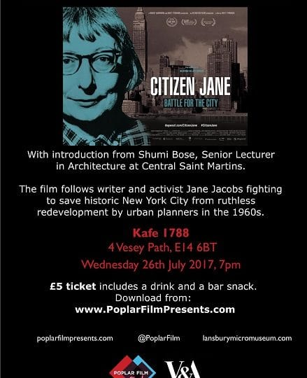Film Screening:  Citizen Jane – One woman's cry against ruthless redevelopment!